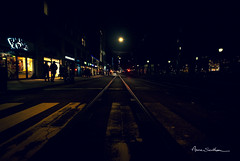 Rails du Nord (Anne Sarthou . Photographie / Projet 365) Tags: aurores boreales oslo norway norvège north nord polar polaire froid cold europe city ville urbain urban town tramway tram night nuit