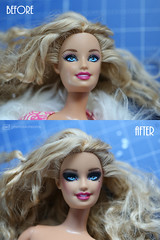 ooak smokey eyes barbie (photos4dreams) Tags: photos4dreams p4d photos4dreamz barbie doll dress mattel toy barbies girl play fashion fashionistas outfit kleider mode photoshoot outdoor red rot kleid canoneos5dmarkiii canoneos5dmark3 locken blond curls ooak smokeyeyes handpainted handmade handgemacht handbemalt oneofakind dollmakeupartist dolldesigner blonde claudia