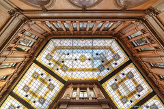 Galleria Alberto Sordi, Rome (tomaso.belloni) Tags: abstract building ceiling city color colorful house nobody photography italy roma skylight symmetry