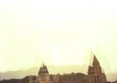 Abbatiale Sainte-Foy de Conques, Aveyron, France. (matériel brouilleur) Tags: diana pinhole stenope 35mm expiredfilm lomography lomo tungsten abbatiale abbey conques aveyron soulages pierresoulages saintefoy estenopeica