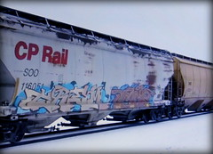 (timetomakethepasta) Tags: trem freight train graffiti art cp rail canadian pacific grainer hopper soo