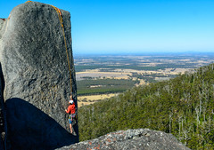 Rock climber on Castle Rock,  Porongorups WA (blair.levia) Tags: castlerock graniteskywalk nationalpark porongorups westernaustralia climb family hill landscape mountain nature