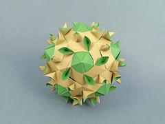 Salix (masha_losk) Tags: kusudama кусудама origamiwork origamiart foliage origami paper paperfolding modularorigami unitorigami модульноеоригами оригами бумага folded symmetry design handmade art