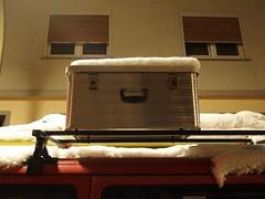 Found Box Face (mkorsakov) Tags: dortmund city innenstadt südstadt saarlandstrassenviertel foundface kiste box silber silver schnee snow