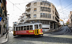 Lisbon, December 24, 2018 (Ulf Bodin) Tags: tram urban tram28 lisbon lisboa canonef1635mmf4lisusm outdoor lissabon canoneosr urbanlife portugal pt road train cable railroad