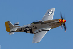 North American P51D Mustang 'Trusty Rusty' displaying at Duxford Flying Legends 2018 (Jeroen.B) Tags: 2018 air airshow duxford egsu flying flyinglegends legends show uk warbird north american p51d mustang trusty rusty phjat vroege vogels 413578 wc5