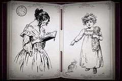Remind the Old Days (SØS: Thank you for all faves + visits) Tags: child clock digitalartwork art kunstnerisk manipulation solveigøsterøschrøder artistic lady old retro scrap vintage watch woman