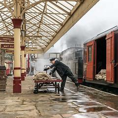 Loading the Mail (Kingmoor Klickr) Tags: gordonedgar 78018 ramsbottom elr eastlancashirerailway mail bags railway station guv generalutilityvan mcdonald