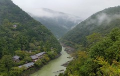 Arashiyama river (tom_2014) Tags: arashiyama japan view landscape kyoto river arashiyamariver japanese asia eastasia kansai valley travel tourism scenic trees