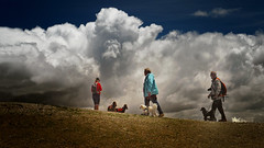 Walking through the clouds - seen in South Tyrol, Alps (Ostseeleuchte) Tags: südtirol alpen speikboden 2517meter wolken wanderung southtyrol alps walking withdogs clouds demhimmelsonah