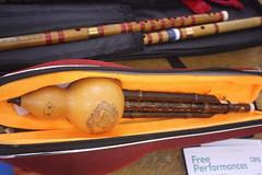 Accordions, Concertinas, etc. [Free Reed Instruments] 106: Hulusi ( of Silk String Trio musician) (KM's Live Music shots) Tags: musicalinstrument hornbostelsachs aerophone hulusi china silkstringtrio stthomashospital