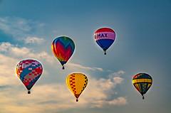 Five is a Crowd (subrec) Tags: lakeland florida hot air balloons sunnfun sun n fun international flyin expo colorfulskies colorfulsky colorful color tampabay tampabayarea tampa orlando airshow pentaxk50 pentax pentaxart bluesky remax