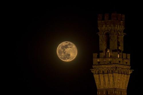 Super moon in Siena