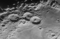 Craters Catharina, Cyrillus and Theophilus (ukmjk) Tags: craterscatharina cyrillusandtheophilus catharina cyrillus theophilus moon crater celestron 150mm f10 6 4x imagemate nikon d500 4k video staffordshire stoke astro astronomy