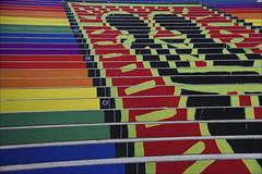 Colorful Stairway (Runemaker) Tags: austria österreich vienna wien albertina museum stairs steps stairway staircase color colour colorful colourful farben nikon d750 treppe treppen