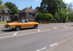 1975 Triumph Stag (MonkeysBirthday) Tags: car automobile triumph stag 1970s british britishleyland nuf659p michelotti diamondsareforever european classic carspotting bestphoto2018 cmwdyellow