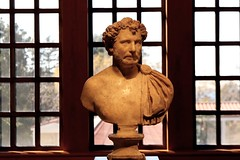 Getty Villa ~ Malibu (Prayitno / Thank you for (12 millions +) view) Tags: getty villa malibu museum antique collection art photography photograph window outdoor indoor bust torso half body display exhibit exhibition beauty beautiful