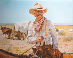 Simonton, Tom 'Gus' (cthcart) Tags: cowboy western art oil painting lonesome dove gus horse wagon cattle drive museum tom simonton oklahoma artist garis gallery american west duncan chisholm trail heritage center