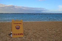 CC Lifeguard Training Sign (ALOHA de HAWAII) Tags: alamoanabeachpark