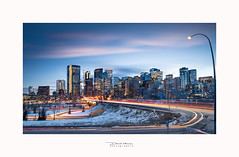 Skyline Calgary, Alberta (David MONSU Photography) Tags: bleu calgary alberta canada bluehour skyline bowtower bowvalley telussky building buisness longexposure poselongue archi architecture