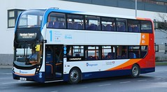 Stagecoach North West 11140 YX68UWO arrives at Heysham Towers terminus with a service from Lancaster University. (Gobbiner) Tags: e400mmc 11140 lancaster cumbrianorthlancs adl heyshamtowers enviro stagecoachnorthwest yx68uwo university