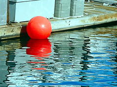 Red Ball Afloat (EmperorNorton47) Tags: danapoint california photo digital winter harbor ball reflection dock red floating