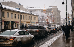 Snow day #1. (GlebLv) Tags: sony a6000 sigma30mmf14dcdncontemporary cityscape moscow downtown winter wintertime snow snowday city solyanskypassage москва