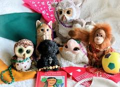 Thank you, Laura and Harvey! (Bennilover) Tags: owls owl kitten puppy cat dog lamb liam hazel swoop bb simon karen gifts beads mardigras cajun bluedog happy gift laura harvey