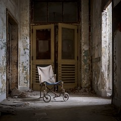 Hide and Seek. (Ewski Images) Tags: beautyindecay exploration wheelchair asylum hospital decay abandoned