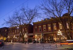 Gastown Nights (Clayton Perry Photoworks) Tags: vancouver bc canada winter explorebc explorecanada night lights gastown skyline