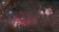 Cinturón de Orión y alrededores (juanfrasali) Tags: astronomia noche pixinsight nebulosa galaxia