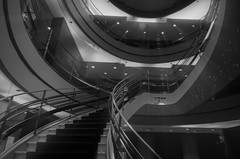 """An Other Worldly Space"" (Photography by Sharon Farrell) Tags: rubinmuseum rubinmuseumofart newyork newyorkcity newyorkmuseum nyc chelsea manhattan stairway spiralstaircase abstract architecture abstractphotography abstractarchitecture abstracts spiralstaircases spiralabstract stepsandstairs steps stairs staircase stairporn staircases stairscape stairscapes stairwell blackandwhite blackwhite blackandwhiteabstract blackwhiteabstract noiretblanc"