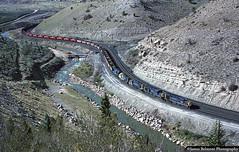 Old & New (jamesbelmont) Tags: utahrailway railroad railway train locomotive coal pricecanyon kyune utah drgw riogrande alco rsd15 rsd12 priceriver soldiersummit