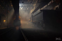 Night in the Shed (PhilR1000) Tags: locomotive train trains steam railway timelineevents didcotrailwaycentre night rail tracks