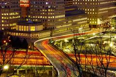 Cincinnati OH (mikeginn12000) Tags: motion night cincinnati canon longexposure procterandgamble ohio lights cars highway overpass