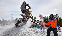 Snow Bike finish line -- Explored (maytag97) Tags: maytag97 nikon d750 motorcycle motorbike snow bike snowbike race compete finish line checkered flag winter outdoor event fast speed championship series ama sport competition track ski motor motorized trail fun recreational competitive tread engine season recreation mountain inexplore explore