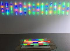 """Per Hess and Risto Holopainen """"Neonmeditasjoner"""" (svennevenn) Tags: utstillinger exhibitions bergen lydgalleriet neon lights lydkunst soundart"""