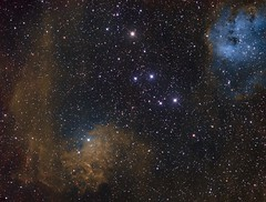 IC 405 and IC 410: The Flaming Star and Tadpoles (AllAboutRefractors) Tags: astronomy astrophotography reflector epsilon130d takahashi qsi nebulae nebula deepsky starlightxpress astrophysics