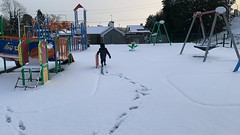 A Playground All To Myself (firehouse.ie) Tags: atplay children child activity playarea playgrounds havingfun fun 2019 march ireland freemount playground playing wintery snowing snowscape snow