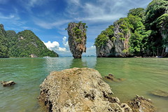 Khao Phing Kan/James bond island. (meren34) Tags: james bond ısland thailand nature extraordinary clouds sea khaoping phang nga bay green asia south thai beauty