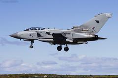 Royal Air Force, Tornado GR4, ZD719 / 085. (M. Leith Photography) Tags: raf lossiemouth lossie aviation jet panavia tornado gr4 scotland scottish sunshine royal air force mark leith photography nikkor 70200vrii nikon airplane aircraft sky cockpit grass field