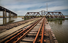 Tracks through the Swamplands (bouzonphotography) Tags: retired abandoned water bridge meadowlands swamplands swamp tracks train nj secaucus