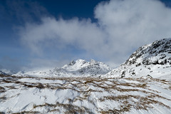 Ben Arthur (rjonsen) Tags: scotland blue sky munro alba snow snowcovered clouds mountain arrochar alps windy windswept