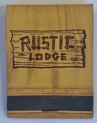 RUSTIC LODGE SAN FRANCISCO CALIF (ussiwojima) Tags: rusticlodge lodge motel sanfrancisco california advertising matchbook matchcover