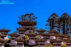 108 Memorial Stupas (@ayan) Tags: dochulapass bhutan drukwangyalchortens himalaya thimpu punakha 108memorialstupas