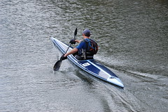 Kayaking on the canal (Halliwell_Michael ## Offline mostlyl ##) Tags: brighouse westyorkshire nikond40x 2019 calderhebblecanal brookfoot canoe water kayak reflection reflections