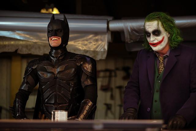 Batman never laughs...