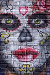 Visage intense sur mur de brique! (Nicojuli) Tags: murale visage couleurs colors face brique