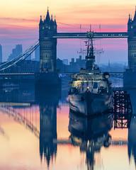 A Morning Bridge (JH Images.co.uk) Tags: london towerbridge bridge hmsbelfast hms ship boat reflection reflections sunrise colour architecture