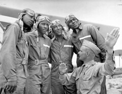 Instructing cadets in training. (aeroman3) Tags: cadets 1st air airmen americans army 99th about african combat corps currents instructing fame fliers flight forces lt pilot mccune pursuit school personnel armed squadron training tuskegee unit units wwii us 241382 timeincnotown al unitedstates